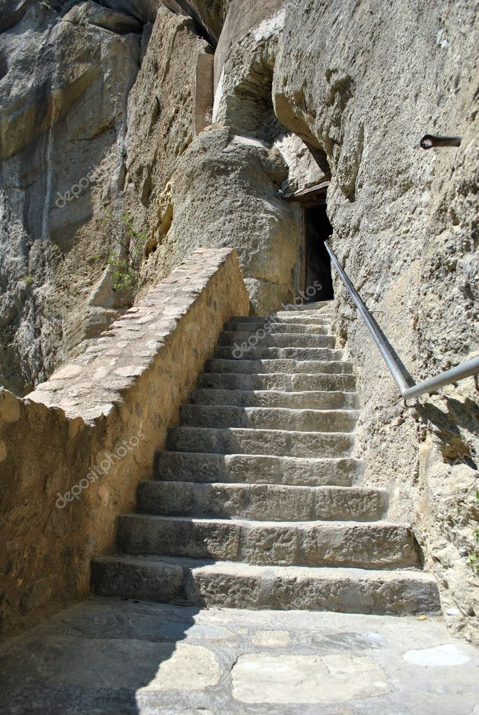 Stairs to meteora monastery — Stock Photo #6679226