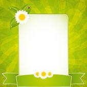 Groene eco frame — Stockvector