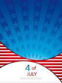 Den nezávislosti pozadí — Stock vektor