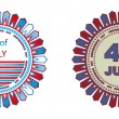 Royalty-Free Stock Vector Image: Independence day badges