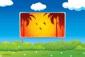 Tropical beach road sign — Stock Vector