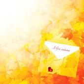 Fondo las hojas de otoño — Vector de stock