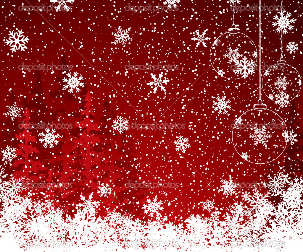 Red Christmas decoration background — Stock Vector #6686545