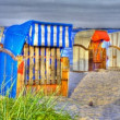 Hooded beach chair in hdr — Stock Photo