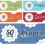 Coupon Set — Stock Vector