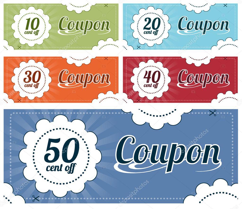 Coupon set stock vector kbuntu 5625805 - Made in design code promo ...