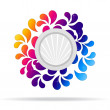 Flowery, Abstract Icon — Foto Stock