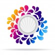 Flowery, Abstract Icon - Foto Stock