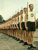 Nazi Schutzpolizei beim Sport — Stock Photo