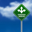 Royalty-Free Stock Photo: Choices Ahead Road Sign