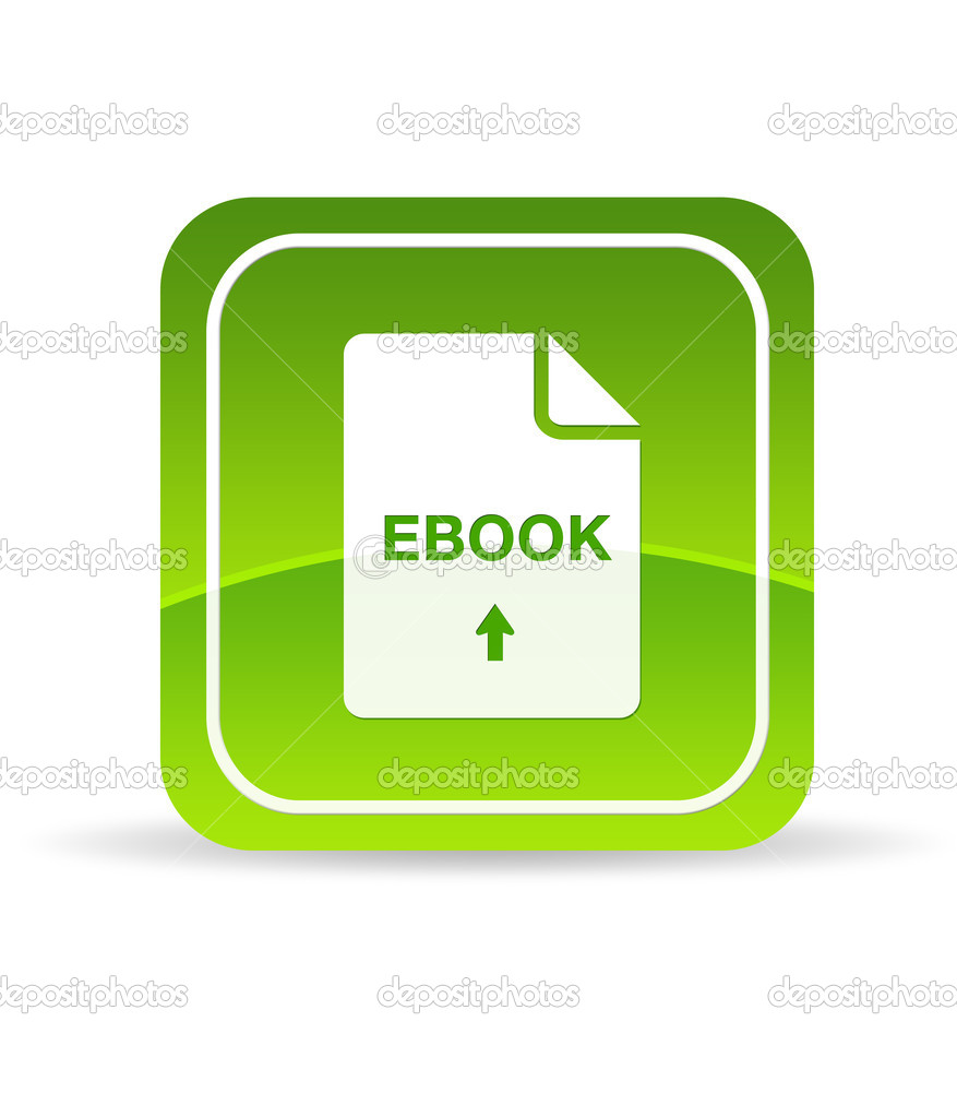 High resolution green ebook icon on white background. — Stock Photo #5856512