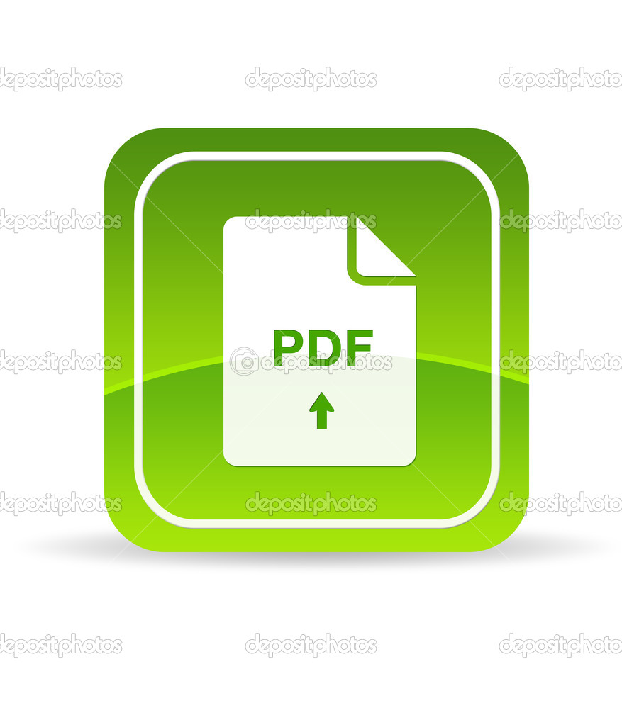 High resolution green pdf icon on white background. — Stock Photo #5856550