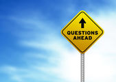 Questions Ahead Road Sign — Stock Photo