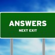 Answers Street Sign — Stock Photo