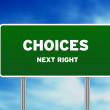 Choices Road Sign — Stock Photo