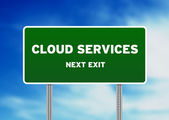 Cloud Services Road Sign — Stock Photo