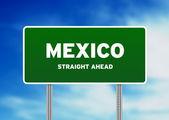 Mexiko straigh ahead vägmärke — Stockfoto