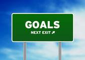 Goals Street Sign — Stock Photo