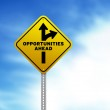 Opportunities Ahead Road Sign — Stock Photo