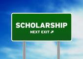 Scholarship Street Sign — Stock Photo