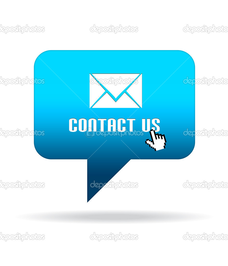 High resolution Contact Us Speech Bubble graphic.  — Stock Photo #5949138