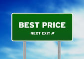 Best Price Highway Sign — Stock Photo