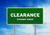 Clearance Highway Sign — Stock Photo