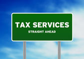 Tax Services Highway Sign — Stock Photo