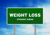 Weight Loss Highway Sign — Stock Photo