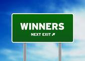 Winners Highway Sign — Stock Photo