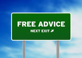Free Advice Highway Sign — Stock Photo