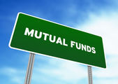 Mutual Funds Highway Sign — Stock Photo