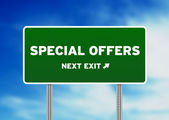 Special Offers Highway Sign — Stock Photo