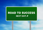 Road to Success Highway Sign — Stock Photo