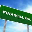 Financial Risk Highway Sign — Stock Photo