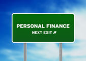 Personal Finance Highway Sign — Stock Photo