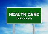 Sağlık otoban işareti — Stok fotoğraf