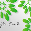 Green Flower Giftcard — Stock Photo #6046035