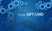 Blue object Giftcard — Stock Photo
