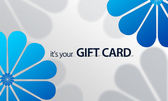 Blue Flower Giftcard — Stock Photo