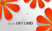 Orange Flower Giftcard — Stock Photo
