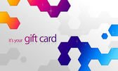 Rainbow Elements Gift Card — Stock Photo