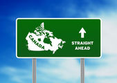 Canada Highway Sign — Stock Photo
