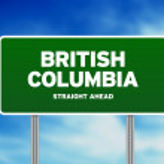 British Columbia Highway Sign — Stock Photo
