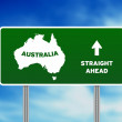 Australia Highway Sign - Stock Photo
