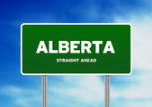 Alberta Highway Sign — Stock Photo