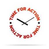 Time For Action Clock — Stock Photo