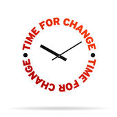 Time For Change Clock — Stock Photo