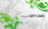 Green Flower Giftcard — Stock Photo