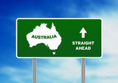 Australia Highway Sign — Stock Photo